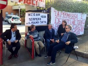 Il senatore Ruta a Venafro al sit in pro Ss Rosario