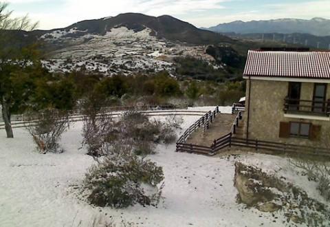 Anticipo d'inverno, prima neve in alto Molise