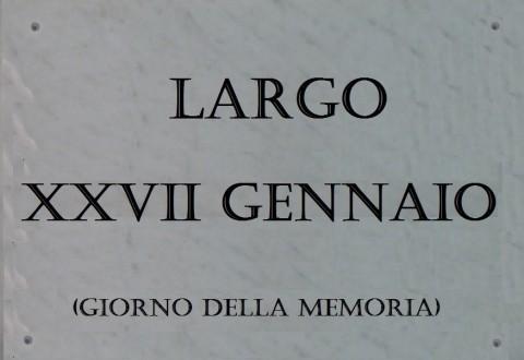 Il Largo di via XXIV Maggio da intitolare al Giorno della Memoria