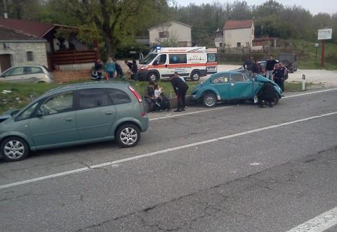 Gravissimo incidente al bivio di Vinchiaturo