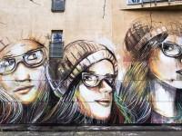 Streetartist in Berlin Germany