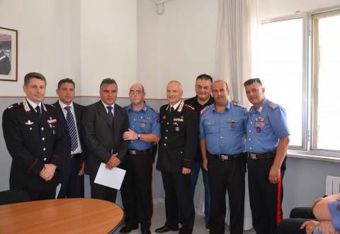 Larino, riconoscimenti per i carabinieri distintisi in servizio
