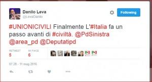 3.Leva unioni civili twitter
