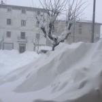 Grandi cumuli di neve anche a Pescopennataro