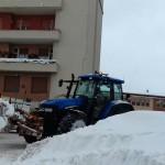 Campobasso, operatori al lavoro per liberare i parcheggi dalla neve