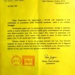 """Condivisione della """"Benedizione Apostolica"""" di Papa Francesco"""