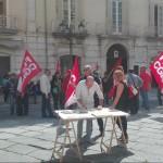 La Cgil Molise in piazza contro la reintroduzione dei voucher: «Uno schiaffo alla democrazia»