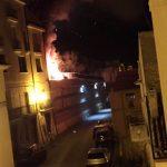 Attentato incendiario in piazza Marconi a Santa Croce