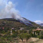 Venafro, rogo a Monte Maina tra Vallecupa e Ceppagna. Abitazioni minacciate dalle fiamme