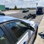 Centauro 41enne si schianta in moto contro un tir, operato d'urgenza al San Timoteo