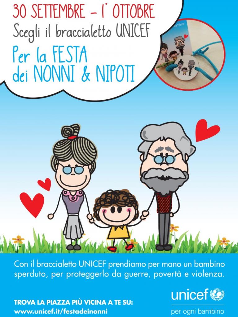 L'Unicef Italia oggi e domani in piazza per celebrare la giornata dedicata a nonni e nipoti