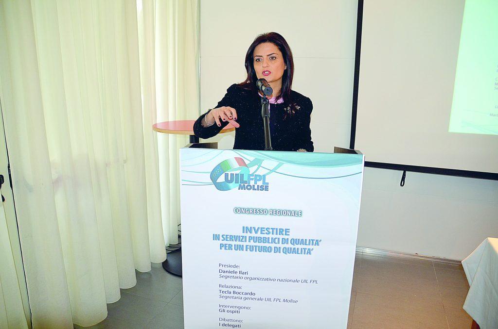 Termoli, Tecla Boccardo rieletta alla guida della Uil-Fpl