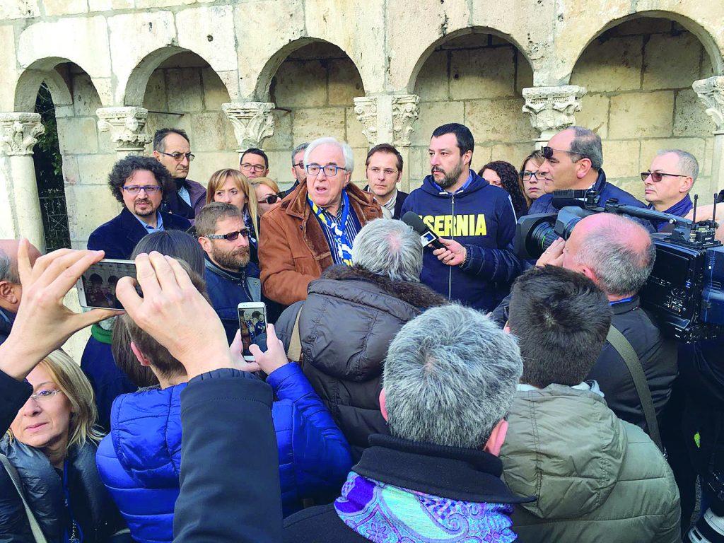 Salvini a Isernia per presentare la lista della Lega