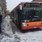 Neve e disagi a Campobasso, autobus fermi e code chilometriche