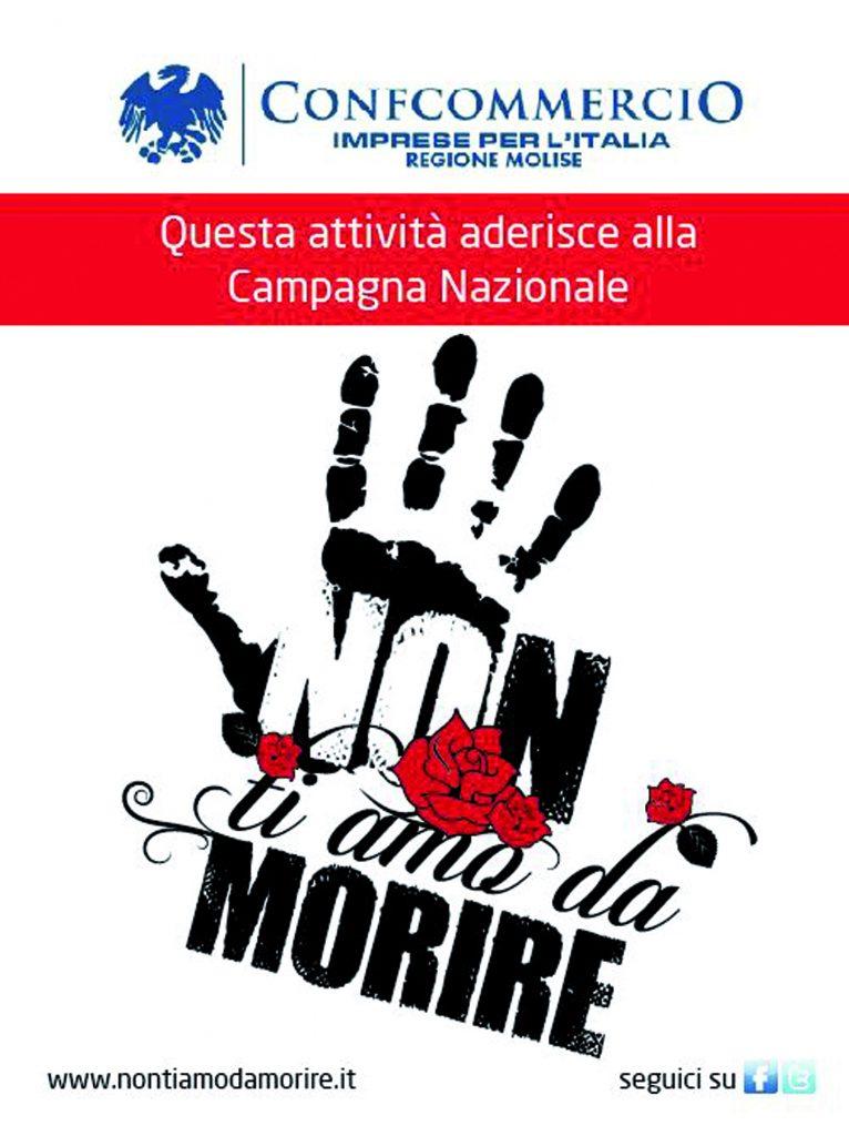 Non ti amo da morire, il logo dell'iniziativa promossa dalla Confcommercio Molise sarà utilizzato nelle campagne nazionali