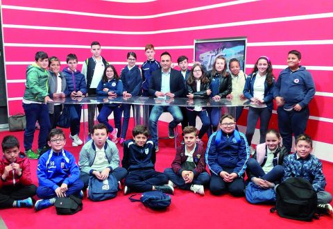 La redazione di Teleregione apre le porte ai giornalisti del futuro