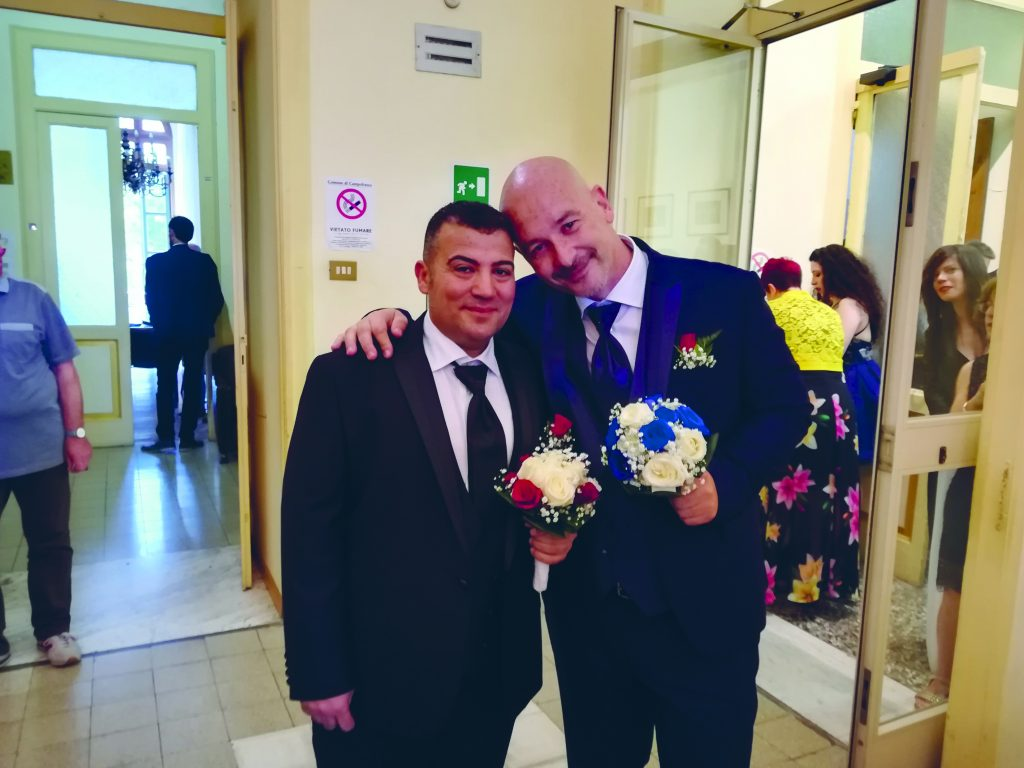 A campobasso un s per tutte le coppie gay vittorio e for Differenza unione civile e matrimonio