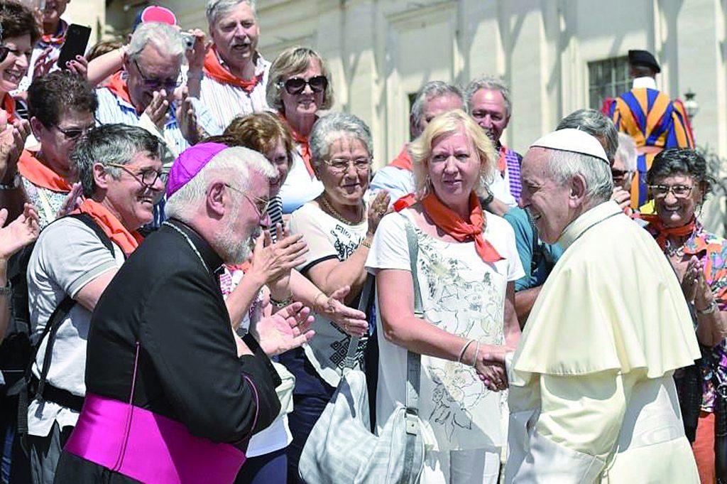 Bregantini incontra il Papa per festeggiare i suoi 70 anni