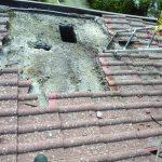 Castelpetroso, fulmine fa esplodere il tetto di un'abitazione
