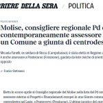 Il caso Fanelli sul Corsera, reazioni dal Pd molisano