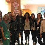 Gigi D'Alessio conquista il Neuromed: giro per i reparti e saluto a tutto il personale