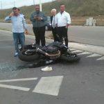 Termoli, violento scontro tra auto e moto sul lungomare Nord