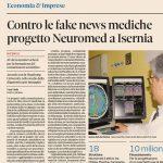 Fake news e ricerca, il Neuromed di Pozzilli in vetrina sul Sole 24 Ore