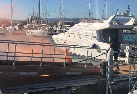 Incendio al porto turistico di Termoli, ma è una simulazione