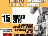 Crisi dell'edilizia, venerdì la Triplice sciopera a Roma