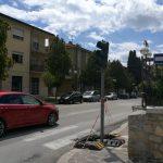 Isernia, rispunta il semaforo all'incrocio della villa