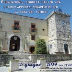 A San Giuliano del Sannio l'incontro su prevenzione e cura dei tumori