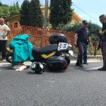 Schianto sulla statale 17 nei pressi di Pesche, centauro finisce nei guai