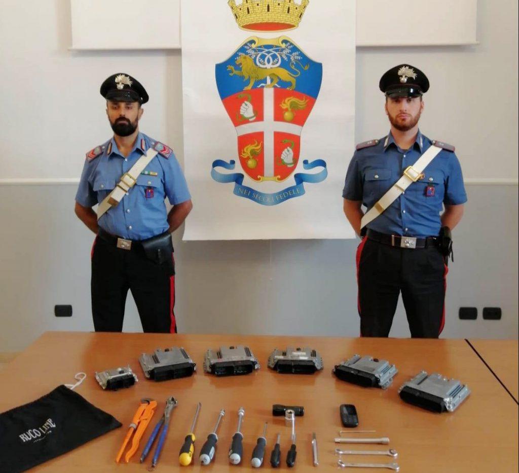 Campobasso, tentano di rubare un'auto: arrestati 2 pregiudicati pugliesi