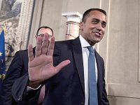 Italian Deputy Premier, Labour Minister and Five Star Movement (M5S) leader Luigi Di Maio Luigi Di Maio, arrives to address the media after a meeting with Italian President Sergio Mattarella at the Quirinale Palace for the second round of formal political consultations following the resignation of Prime Minister Giuseppe Conte, in Rome, Italy, 28 August 2019. ANSA/ANGELO CARCONI