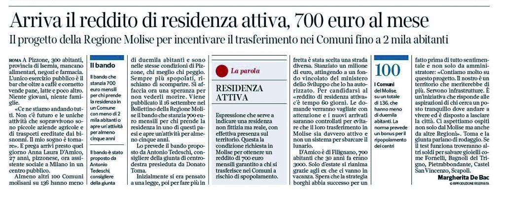 Reddito di residenza, la proposta Tedeschi conquista il «Corsera»