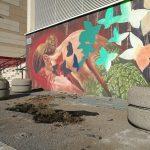 Isernia, murale dell'auditorium danneggiato da un'auto