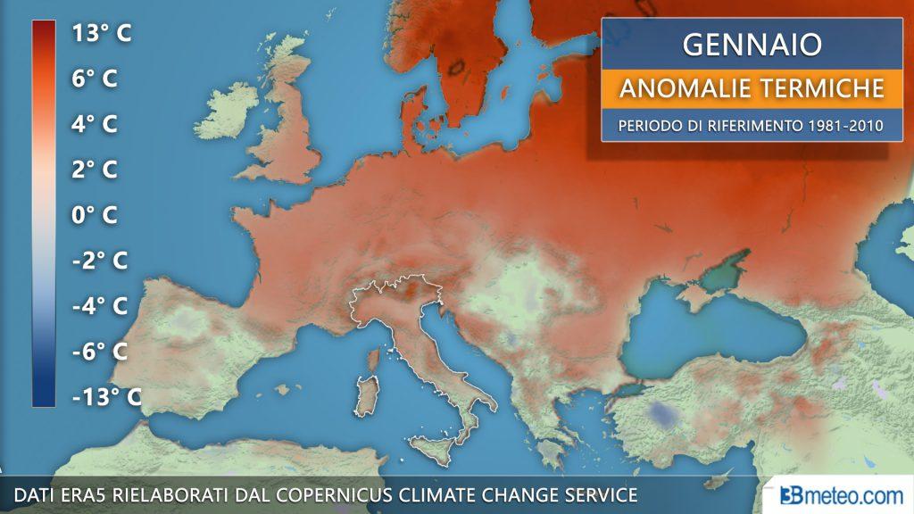 Gennaio più caldo di sempre in Europa: e ora torna pure l'anticiclone 'mangia-inverno'