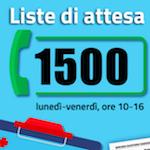 Dalle liste di attesa al coronavirus: 1500, numero per tutte le emergenze