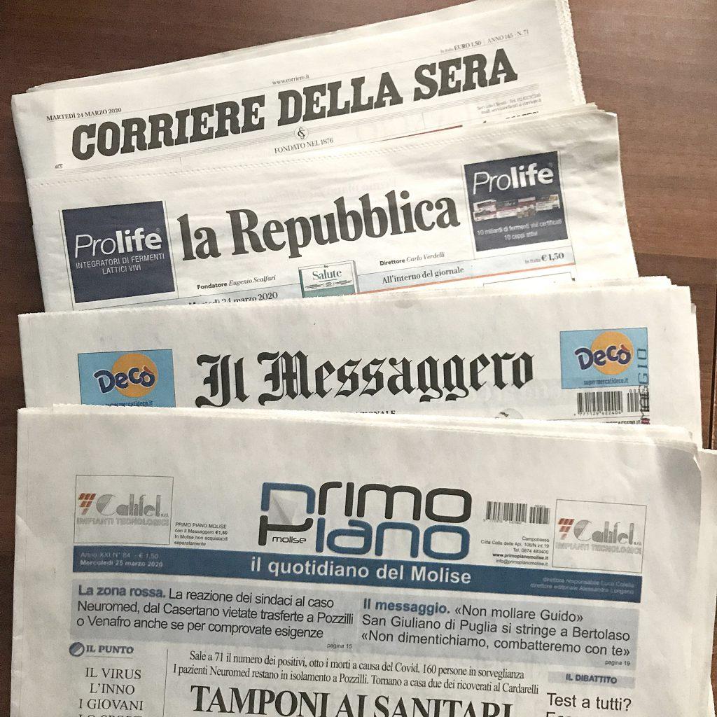 Agnone e l'editoria ai tempi del Covid: resta a casa, il giornale te lo portiamo noi