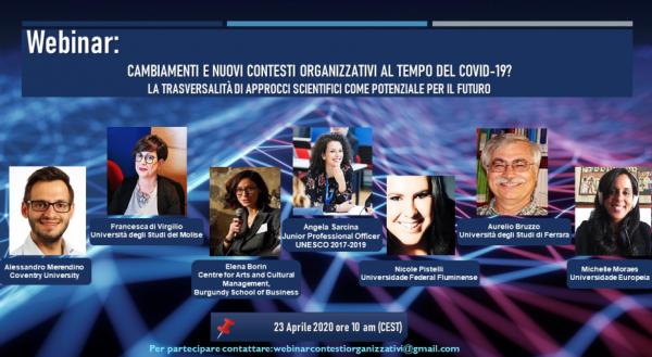 Cambiamenti e nuovi contesti organizzativi al tempo del Covid, domani il webinar di Unimol
