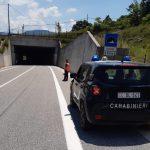 Isernia, alla guida contromano in galleria: anziano fermato dai Carabinieri