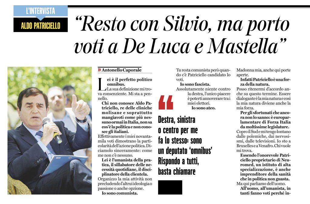 Scoppia il caso De Luca, la verità di Patriciello: sono un politico 'omnibus'
