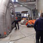 Termoli, la tenda è stata riparata e torna all'ospedale: danneggiata da terzi