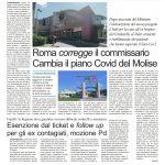 Hub Covid a Larino, Toma pubblica il no del Ministero: «Io non ho deciso nulla»
