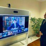 Un'immagine tratta dal profilo Twitter del presidente della Regione Liguria Giovanni Toti, 11 gennaio 2021. TWITTER GIOVANNI TOTI +++ATTENZIONE LA FOTO NON PUO' ESSERE PUBBLICATA O RIPRODOTTA SENZA L'AUTORIZZAZIONE DELLA FONTE DI ORIGINE CUI SI RINVIA+++