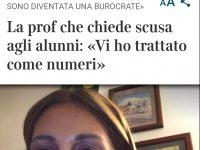 La prof di Agnone chiede scusa agli studenti, il suo post diventa virale