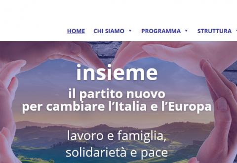 """""""Insieme"""", il nuovo partito adesso è anche online"""