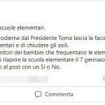 A Pozzilli la sindaca decide di riaprire le elementari dopo un sondaggio su Facebook