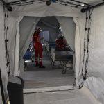 Ieri il primo ricovero nelle tende dell'ospedale da campo al San Timoteo