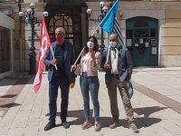 Triplice in piazza: «Basta morti sui luoghi di lavoro»